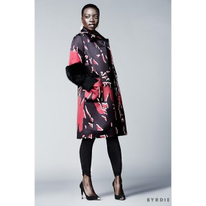Editorials.  Danai Gurira Sports and Bold, Bright, Elegant Pieces For Byrdie.