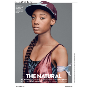 Mo'ne Davis Features in the November 2014 Issue of Teen Vogue.