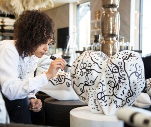 Artist Shantell Martin Teams Up With Designer Kelly Wearstler For A  Unique Collection.