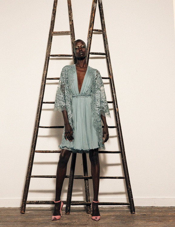 Nykhor Paul, Pierre Dal Corso, Black Fashion, Black Fashion Model