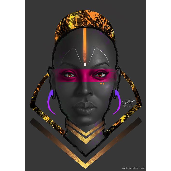 Ashley Straker Art Afro Series African Women Digital Art