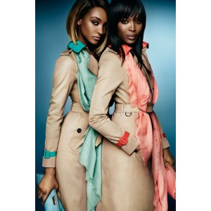 Naomi Campbell and Jourdan Dunn Star in Burberry Spring 2015 Ads.