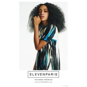 Solange Stars in a Series of Ads For French Brand Eleven Paris.