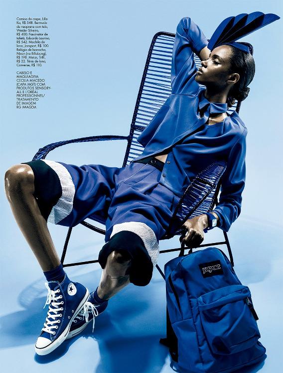 Editorials. Thaina Oliveira da Silva . Elle Brazil. by Fernando Tomaz.