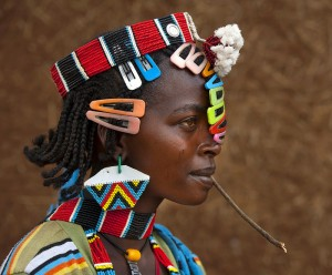 World Travels.  The Bana People of the Omo Valley Sport Stylish Colorful Clips.