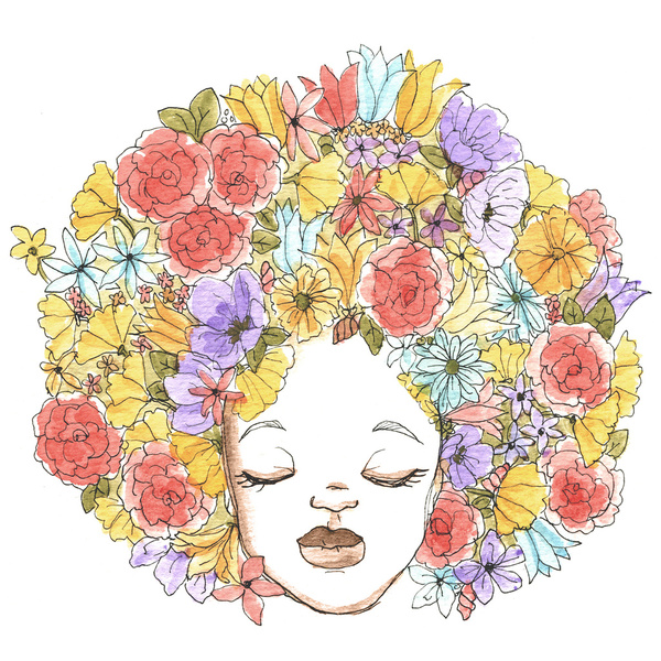 sharee Kendall Miller, Coily and Cute, Black Women Art, Black Women Illustrations