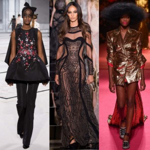 Black Models on the Runway.  Couture Fashion Week. Spring/Summer 2015.