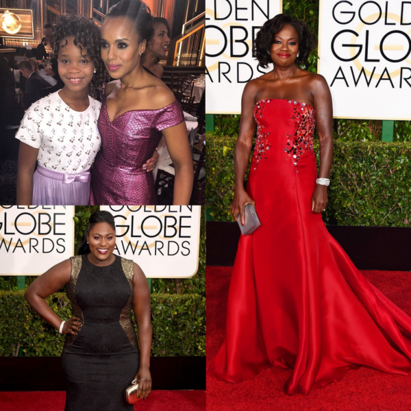 Viola Davis, Kerry Washington, Quvenzhane Wallis Golden Globes Fashion