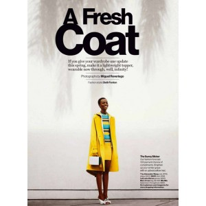 Editorials.  Herieth Paul.  Glamour Magazine.  Images by Miguel Reveriego.