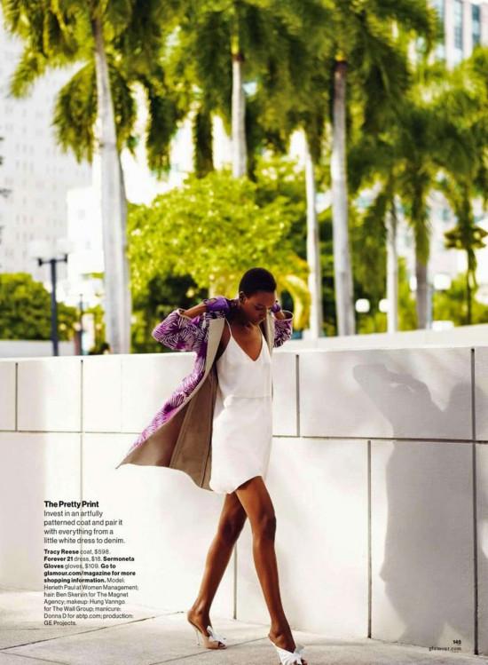 Herieth Paul, Glamour Magazine, Miguel Reveriego, Black Fashion Models