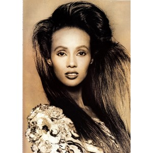 Editorial Throwback.  Iman.  Vogue Paris. September 1988. Images by Andrew MacPherson.
