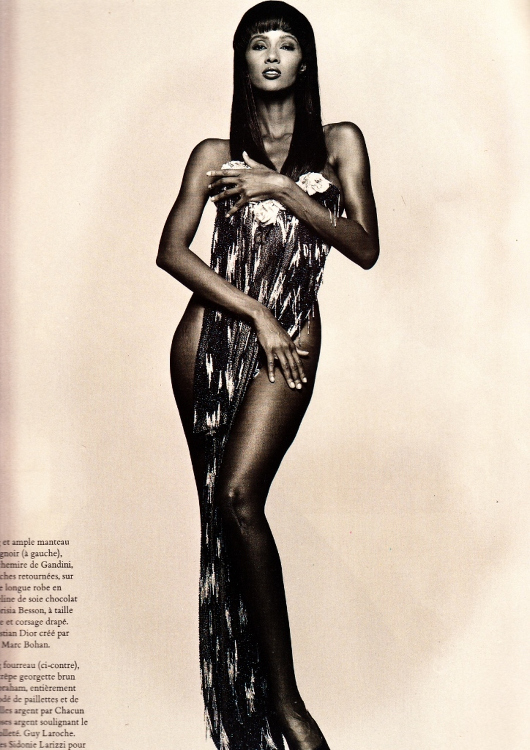 Iman, Vogue Paris 1988, Vintage Fashion Magazines, 80's Black Fashion Models