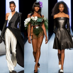 Black Models on the Runway.  Jean Paul Gaultier Couture Spring/Summer 2015.