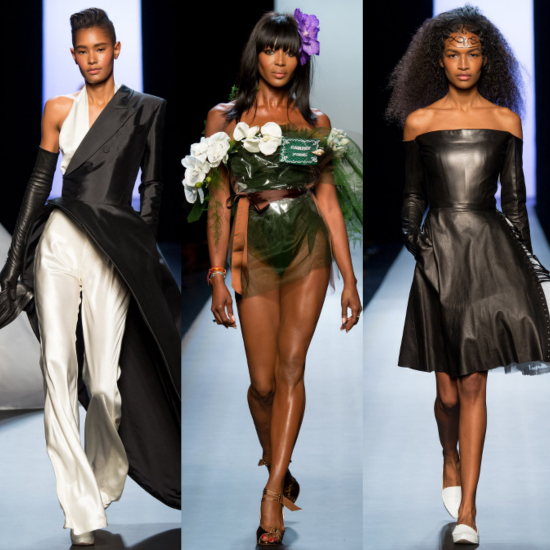 Jean Paul Gaultier Couture SS 15 Black Fashion Models