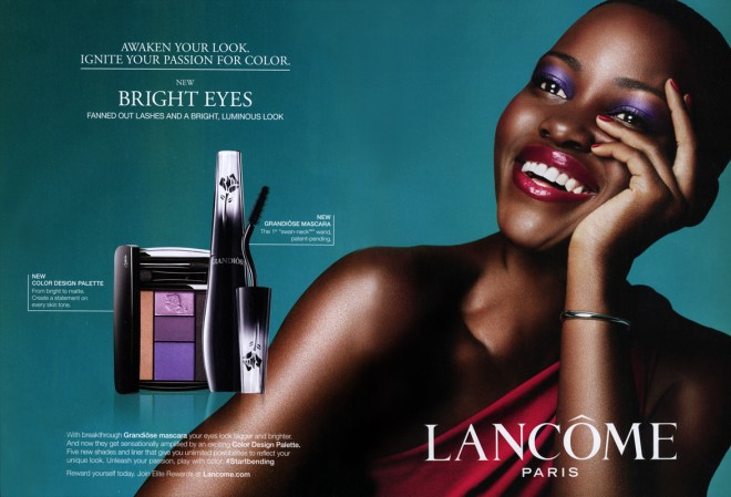 Lupita Nyong'o in a New LANCÔME Ad for 2015.