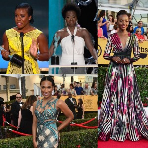 The SAG Awards.  Fashion.  Natural Hair on the Red Carpet.  Viola Davis' Beautiful Acceptance Speech.