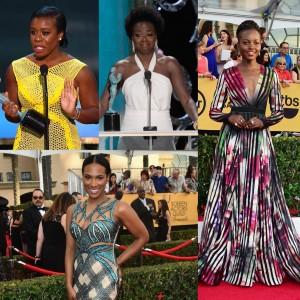 The SAG Awards.  Fashion.  Natural Hair on the Red Carpet.  Viola Davis' Beautiful Acceptance Speech.