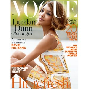 Jourdan Dunn Covers British Vogue's February 2015 Issue by Patrick Demarchelier. HQ.