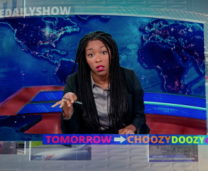 Jessica Williams Hosts 'The Daily Show' in This Clip From 'Hot Tub Time Machine.'
