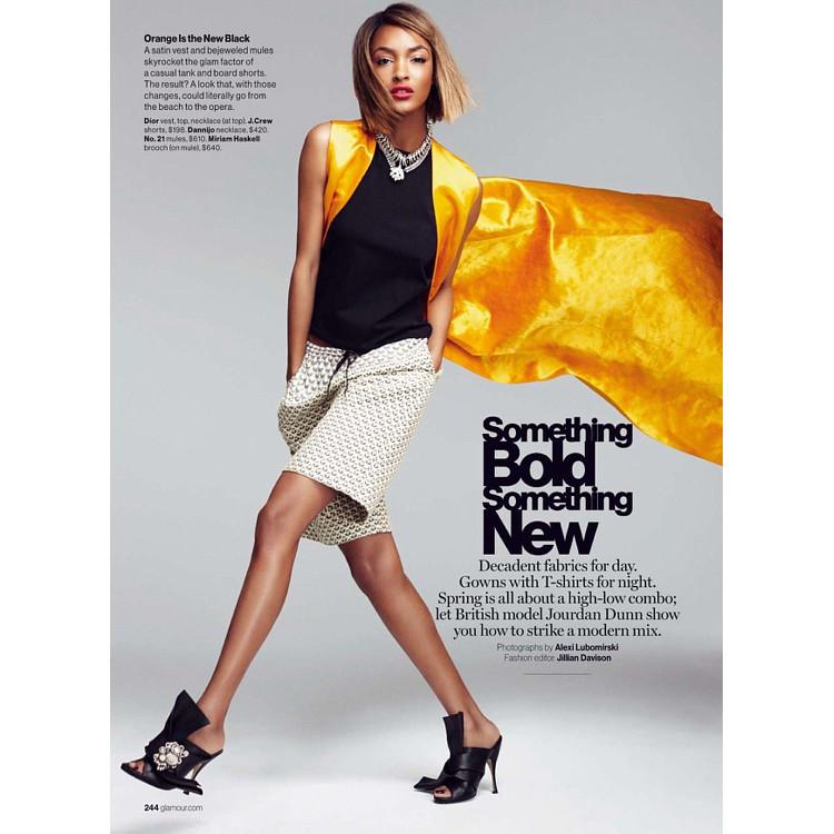 Jourdan Dunn Glamour magazine Alexi Lubormirski Black Fashion Models