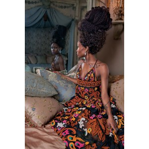 Kehinde Wiley's Muses Model Spring 2015 Looks For New York Magazine.
