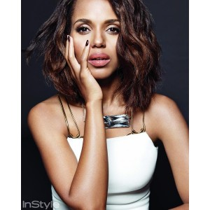 Editorials. Kerry Washington. InStyle March 2015.  Images by Jan Welters.