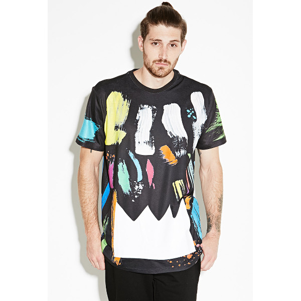 Ron Bass Brushstroke Print Tee.