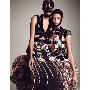 Editorials.  Binx Walton. Malaika Firth. Aya Jones.  Vogue Japan.  by Luigi & Iango.