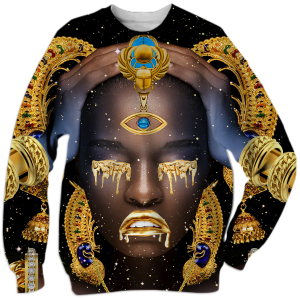 Shop This.  Tees and Sweats Featuring Afrofuturistic Artwork by Manzel Bowman.