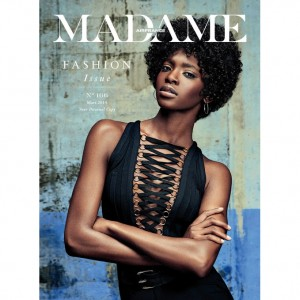 Editorials.  Marie Fofana.  Air France Madame.  Images by Christian Awander.