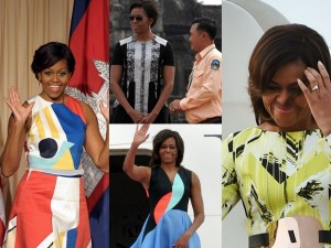 Check Out Michelle Obama's Amazing Wardrobe During Her Tour of Asia.