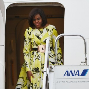 Snapshots.  Michelle Obama in Kenzo.