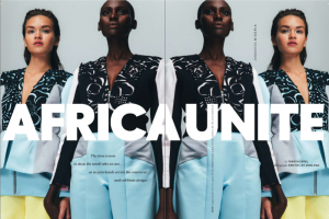 "Elle South Africa Features The Continent's Hottest Fashion Designers For ""Africa United."""