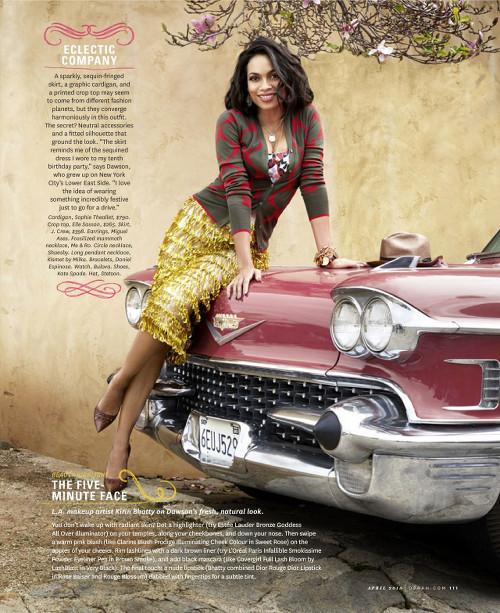 Rosario Dawson, Oprah Magazine