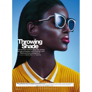 Editorials. Senait Gidey.  Glamour Magazine US. Images by Sebastian Mader.