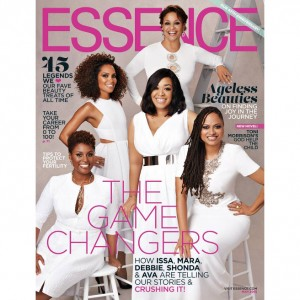 Ava DuVernay, Shonda Rhimes, Mara Brock Akil, Debbie Allen, and Issa Rae Cover Essence Magazine.
