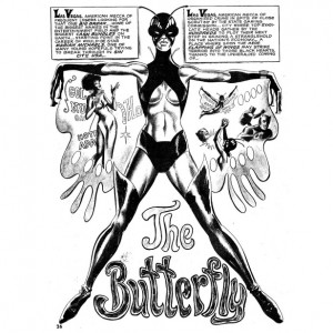 Throwback.  Meet Butterfly.  The First Black Female Comic Superhero.