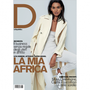 Editorials. Liya Kebede. D la Repubblica.  Images by Marcus Mam.