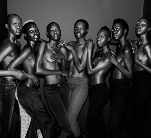 Images.  South Sudanese Models Stand 4 Education.