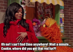 ICYMI.   Taraji P. Henson Visits Sesame Street and Stars in A Sketch About White Feminism on 'Saturday Night Live.'