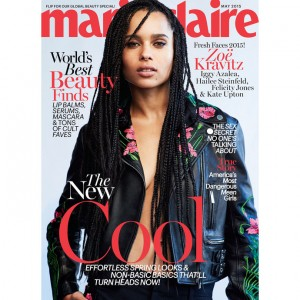 Zoe Kravitz Covers Marie Claire May 2015.