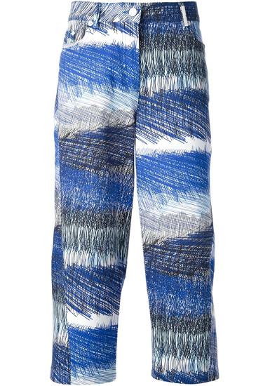 KENZO cropped 'Scribble Stripe' jean.