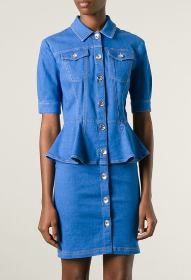 LOVE MOSCHINO peplum waist denim dress
