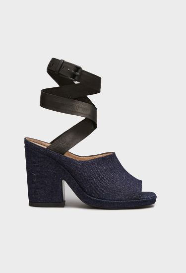 OPENING CEREMONY EMI DENIM PLATFORM SANDALS