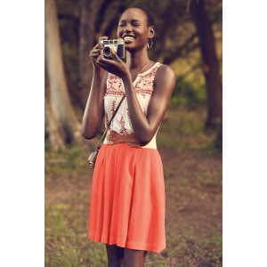 Ajak Deng Features in Anthropologie's May 2015 Lookbook.