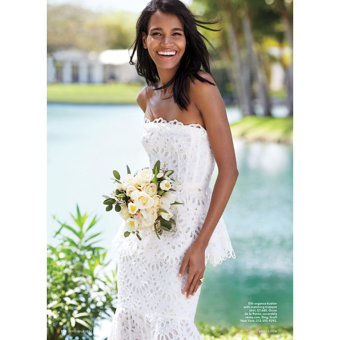 Editorials. Arlenis Sosa Covers Brides Magazine