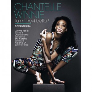 Editorials.  Chantelle Winnie.  Glamour Italia June 2015.  Images by Giovanni Gastel.