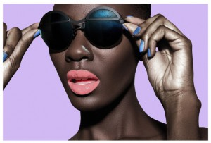 Images.  Destiny Owusu Rocks Bold Lip Colors For The Lip Bar. Photography by Bre'Ann White.