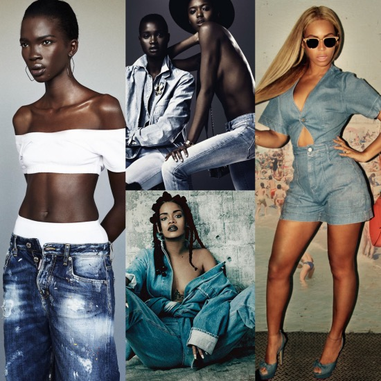 Black Fashion Models, Denim Fashion