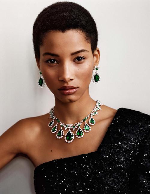 Lineisy Montero Grace Bol Vogue Paris Black Fashion Models